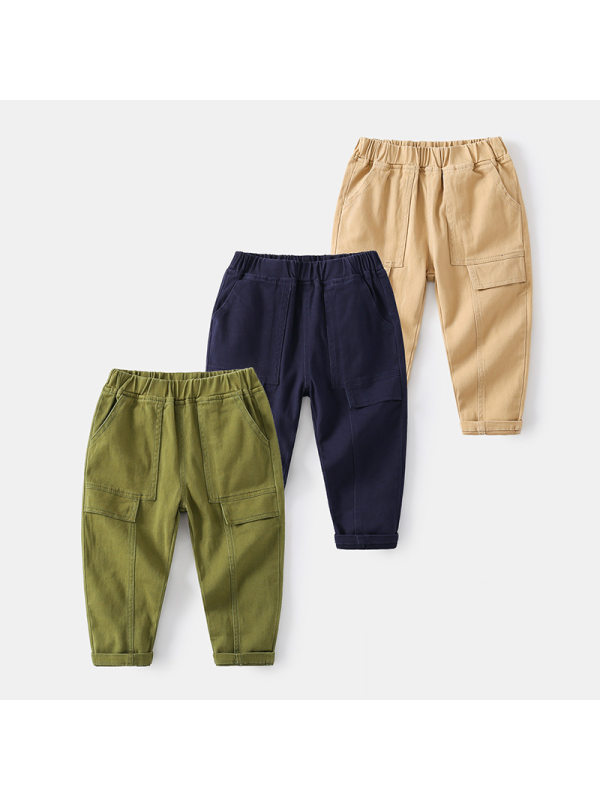 【2Y-9Y】Boys Patchwork Casual Trousers