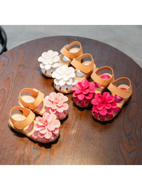 Girls Fresh and Sweet Flower Sandals