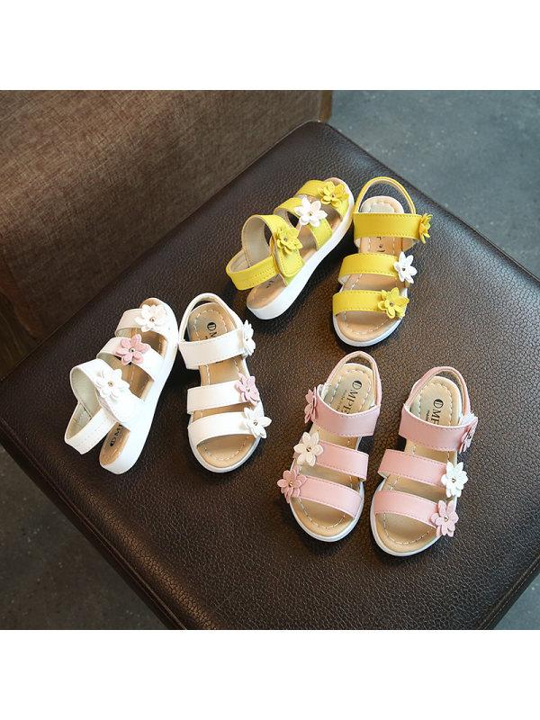 Girls Cute Flower Sandals