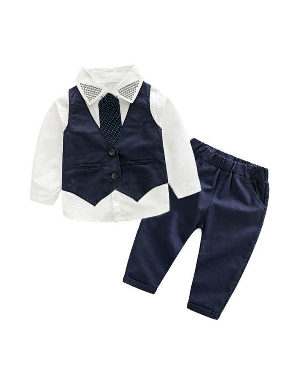 【18M-9Y】Boys Three-piece Suit