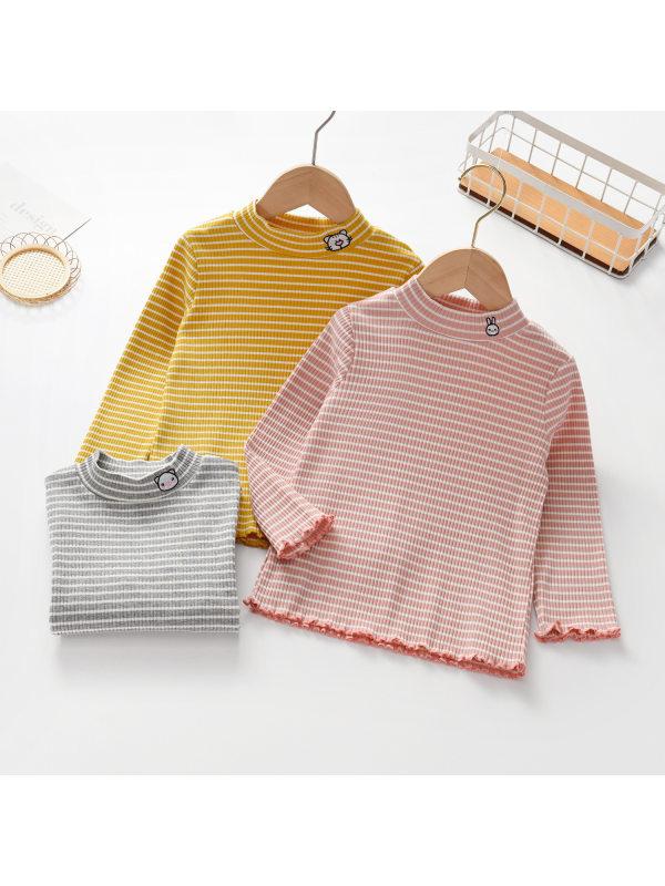 【18M-9Y】Girls Striped Long Sleeve T-Shirt