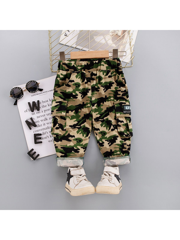 【12M-5Y】Boys Casual Camouflage Pants