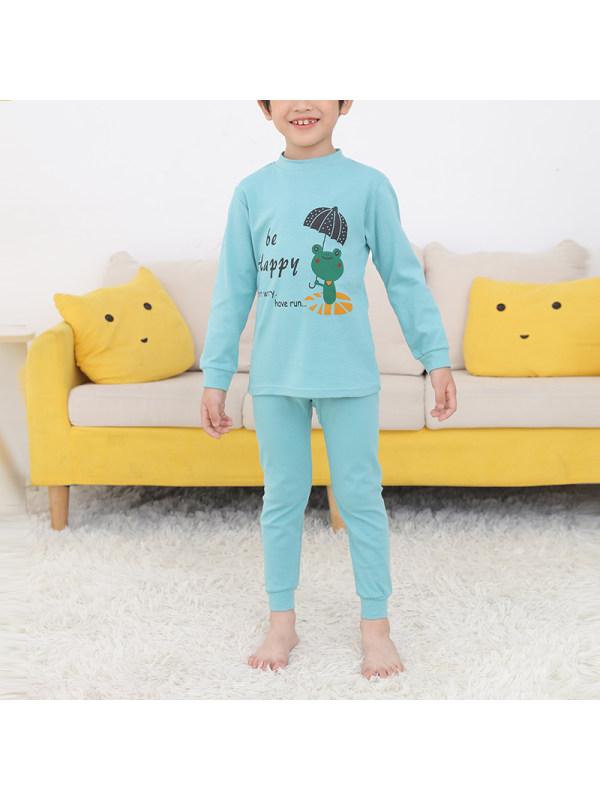 【2Y-13Y】Boy Cartoon Print Rest Suit