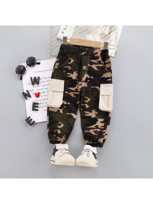 【12M-5Y】Boys Casual Camouflage Long Pants