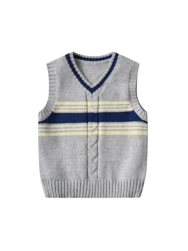 【18M-6Y】Boys Preppy Style Sweater Vest