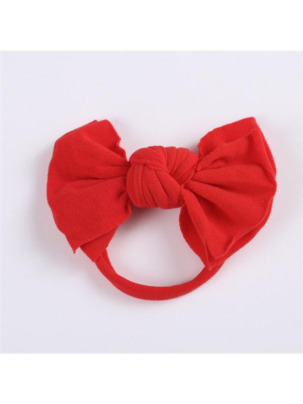 Girl Nylon Bowknot Decor Headband