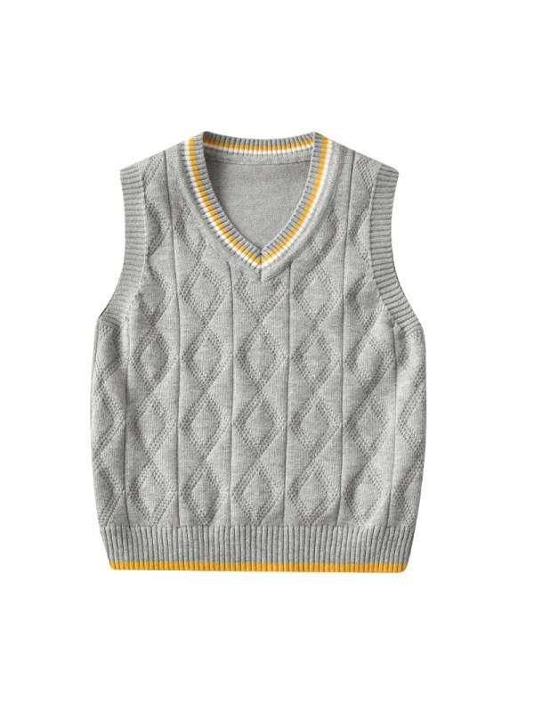 【18M-7Y】Boy Preppy Style Sweater Vest