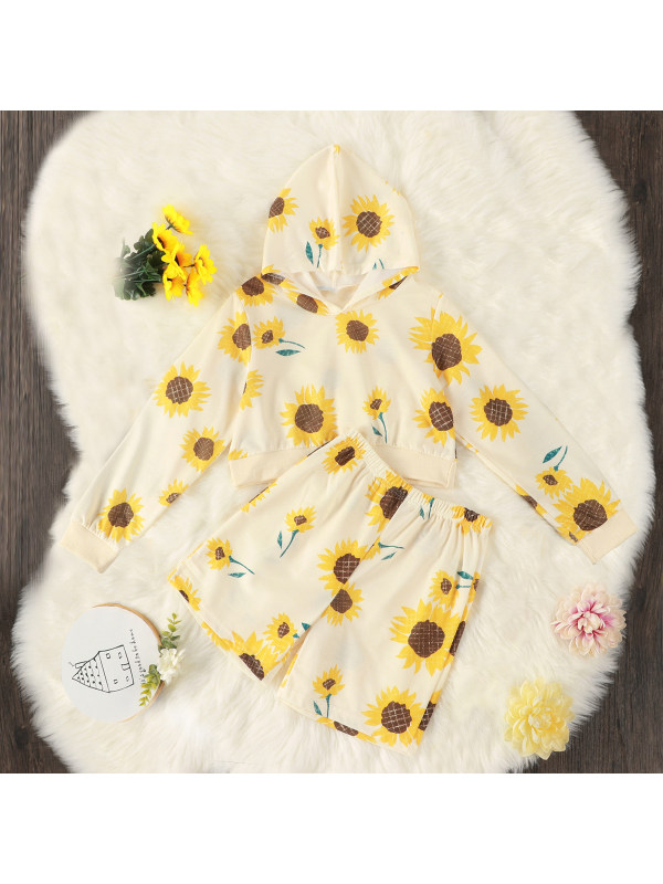 【6Y-15Y】Girls Sunflower Two-piece Suit