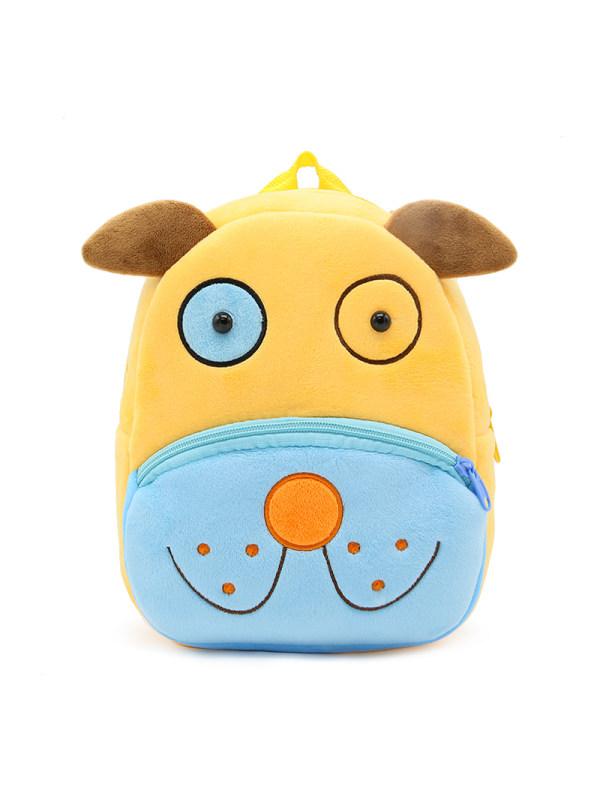 Kids 3D Cartoon Dog Plush Backpack