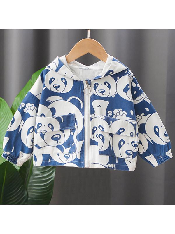 【12M-5Y】Boys Fashion Panda Pattern Jacket