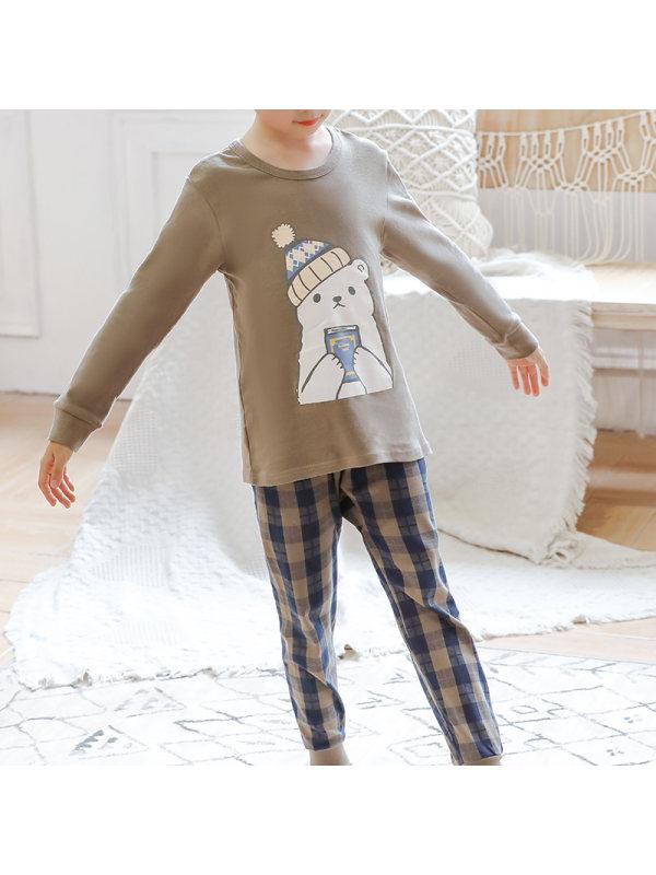 【2Y-13Y】Boy Casual Cartoon Print Two-piece Suit