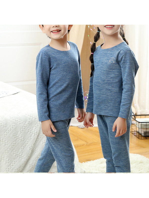 【2Y-13Y】Kid Cotton Long-sleeved Home Wear Two-piece Suit