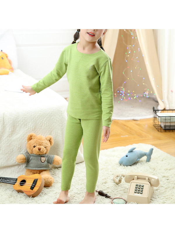【2Y-13Y】Girls Cotton Long-sleeved Home Wear Two-piece Suit