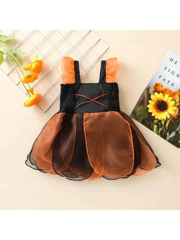 【12M-4Y】Girls Suspender Layered Tulle Dress
