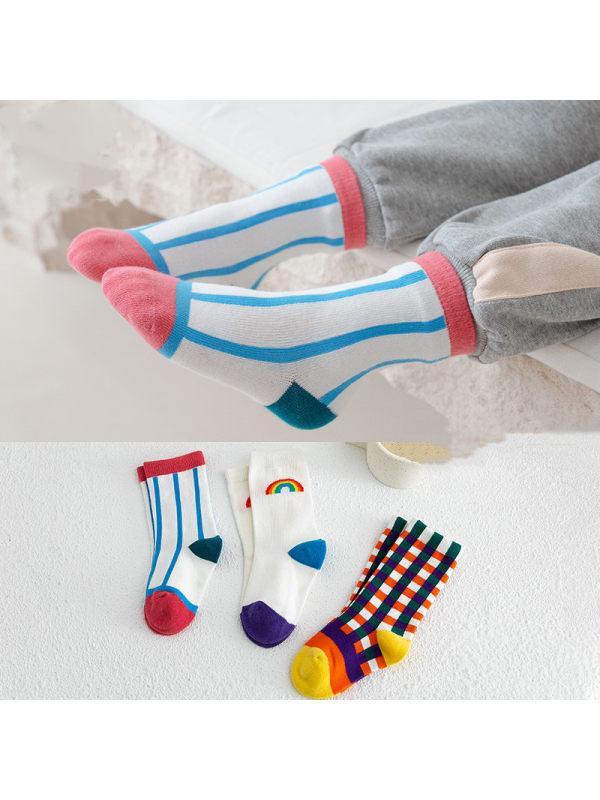 3 Pairs of Rainbow Kid Socks