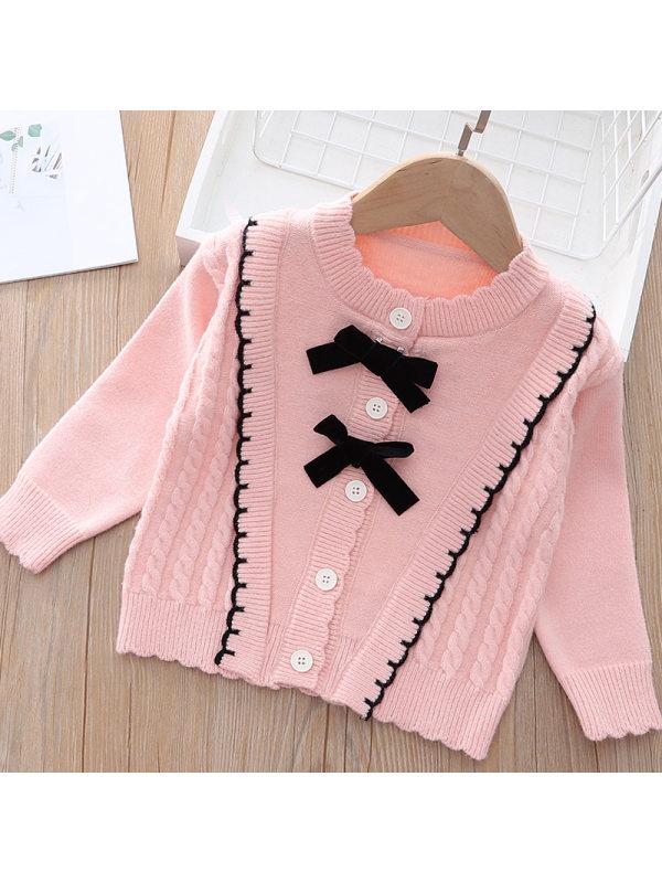 【12M-5Y】Girl Sweet Bowknot Coat