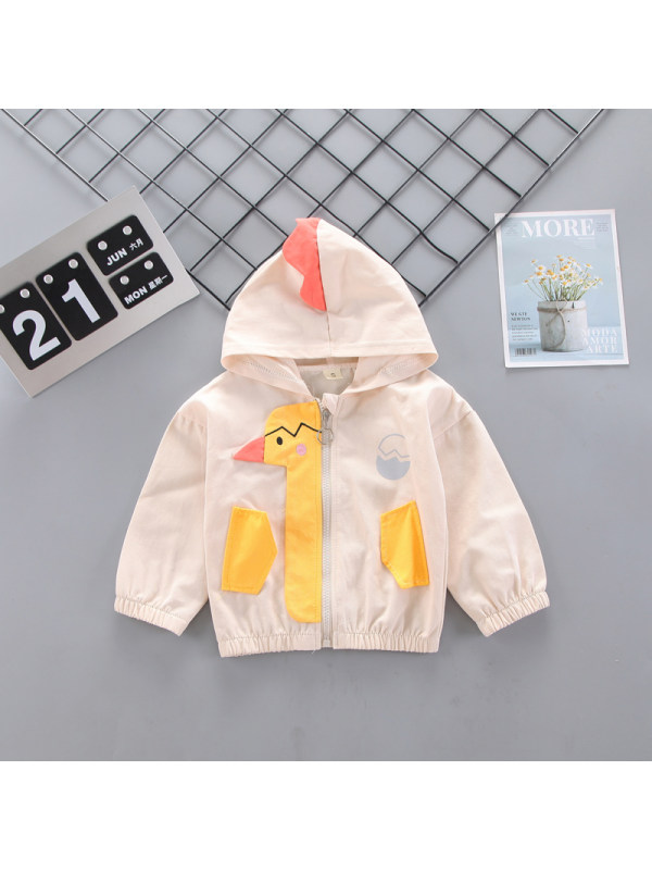 【9M-3Y】Boys Cartoon Print Hooded Jacket