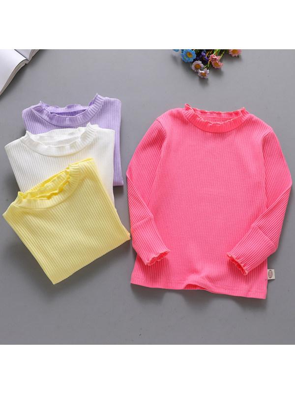 【18M-7Y】Girl Sweet Multicolor Long Sleeve T-Shirt