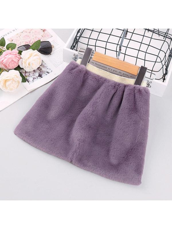 【18M-7Y】Girls Plush Skirt