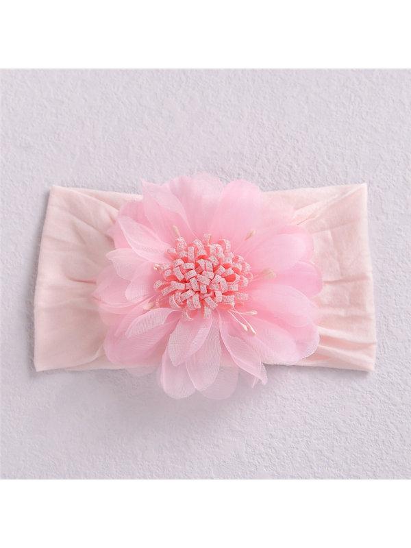Baby Net Yarn Sun Flower Bud Headband