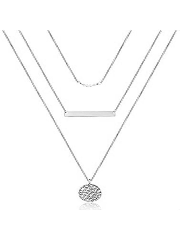 New product stacking bead sequins multi-layer necklace ladie