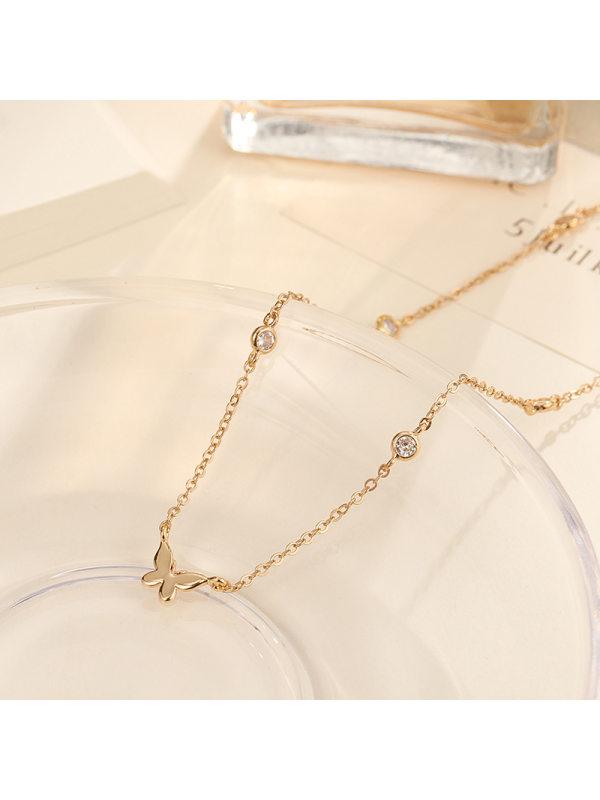 ins cold niche design sense clavicle chain light luxury temp
