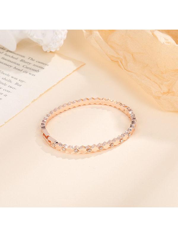Bracelet with diamonds personalized fashion rose gold wave b