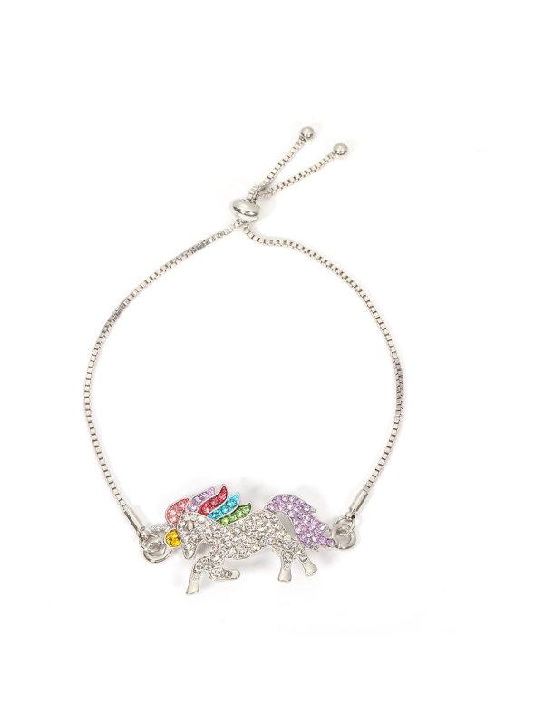 Hot selling fashion jewelry unicorn enamel bracelet jewelry