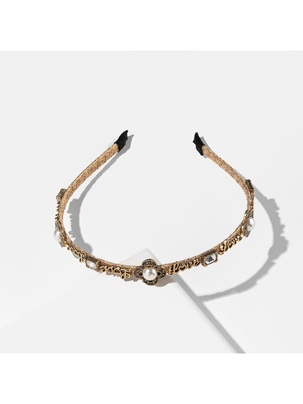 Hair accessories pearl and diamond alloy LOVE decorative he