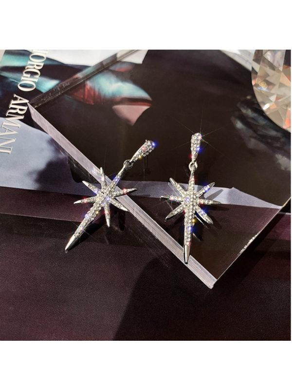 New eight-pointed star long earrings earrings womens earrin
