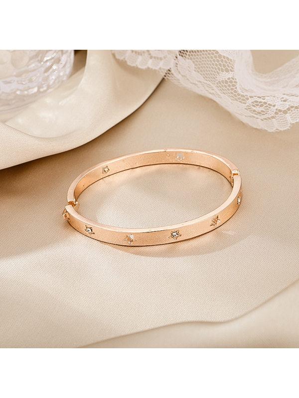 Rose gold diamond five-pointed star ladies bracelet persona