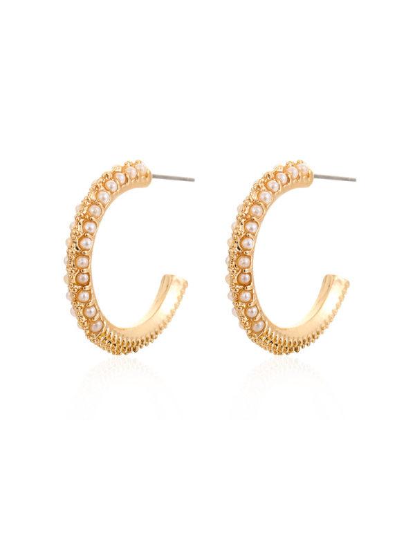 Womens gold U-shaped pearl personalized fashion all-match e
