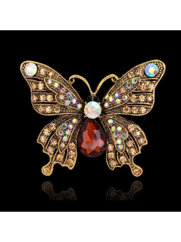 Cute butterfly alloy brooch pin