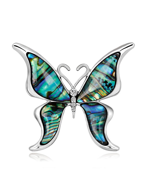 High-end butterfly shell series brooch