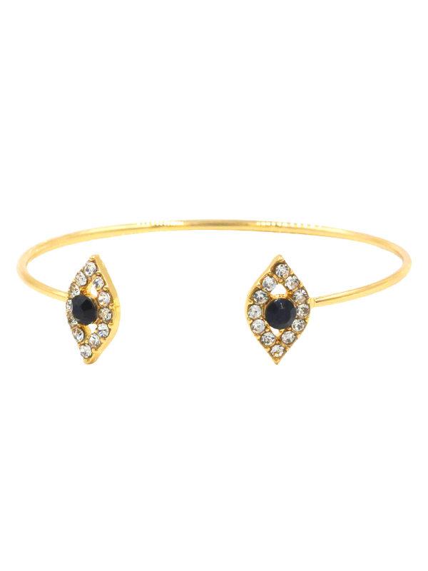 Personality Big Brand Alloy Bracelet Open Bracelet Diamond J