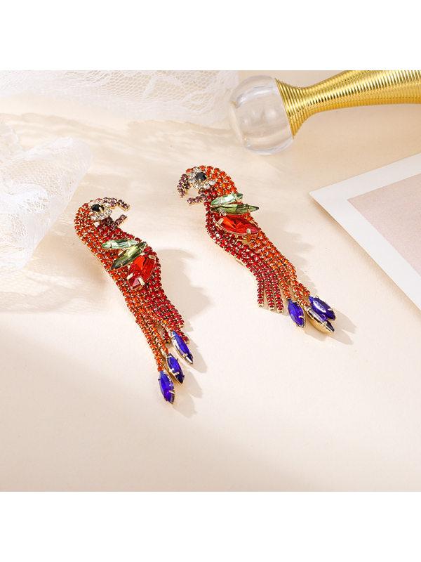 Personality creative exaggerated diamond earrings fashion al