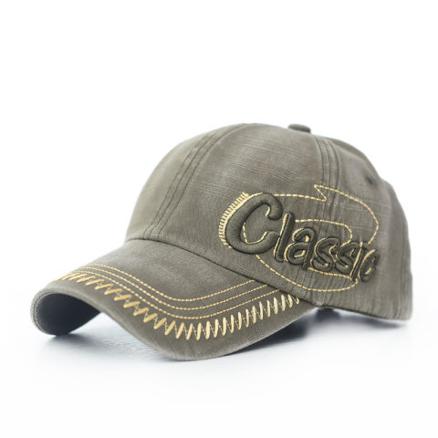 Men's washed and old retro letter three-dimensional embroidery hat