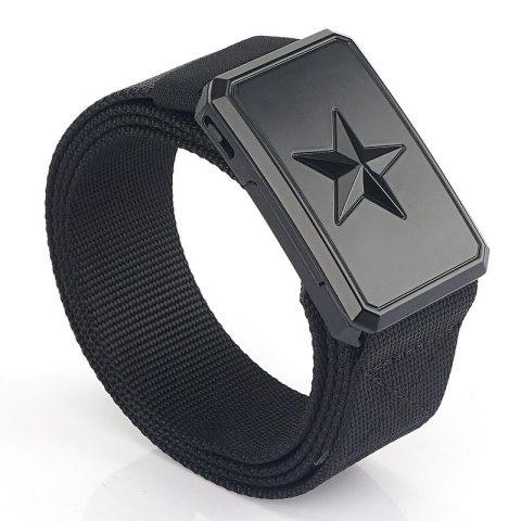 Five-star magnetic buckle tactical nylon belt