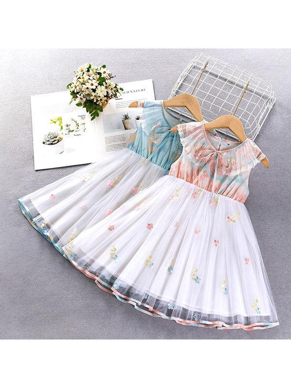 【18M-7Y】Girls Chiffon Vest Dress