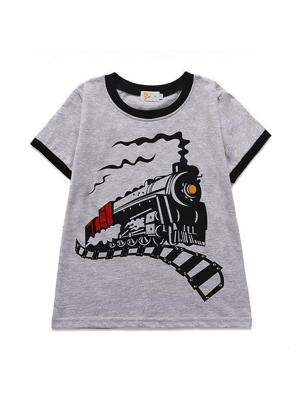 【18M-9Y】Boys Cartoon Print Short Sleeve T-shirt
