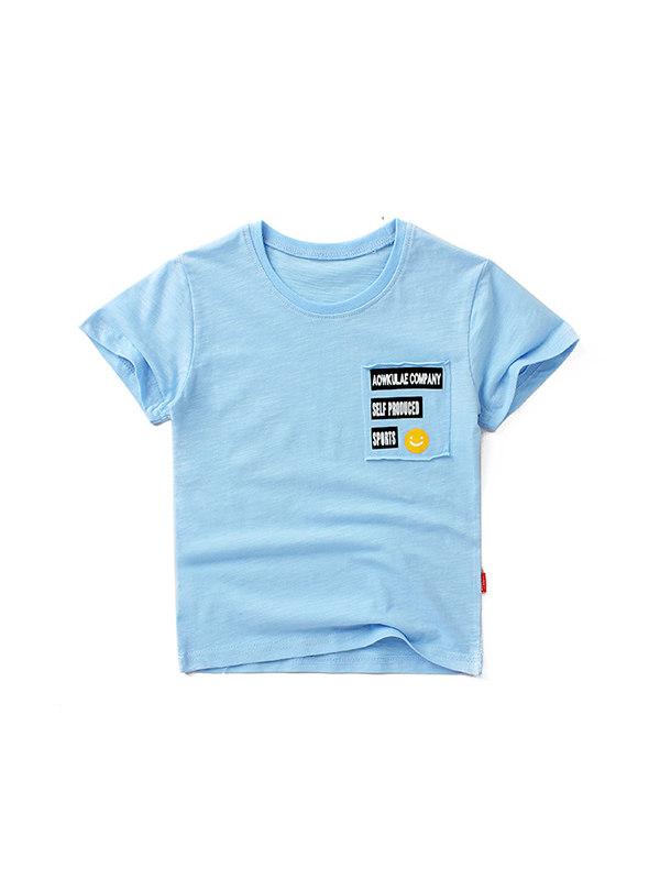【4Y-13Y】Boys' Personality Printed Short-sleeved T-shirt
