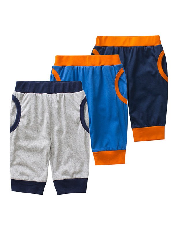 【18M-9Y】Boys Color Contrast Stitching Trendy Pants
