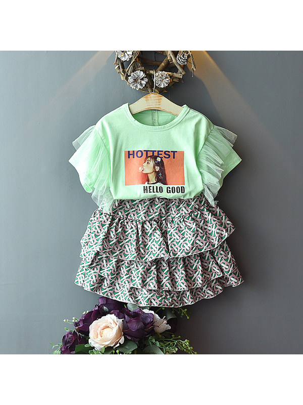 【18M-7Y】Girls Summer Two-piece Suit