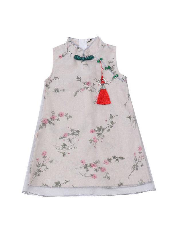 【3Y-13Y】Girls Ethnic Style Retro Dress