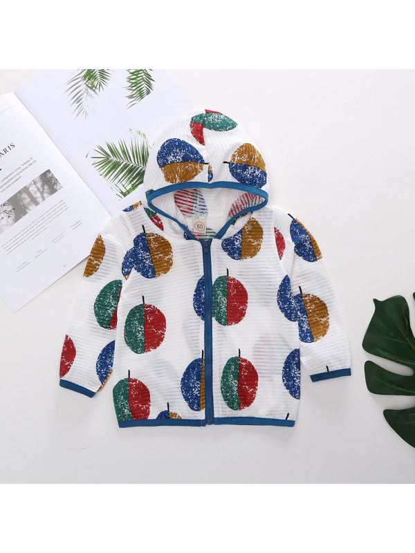 【12M-7Y】Kids Breathable Contrast Printing Sunscreen Jacket