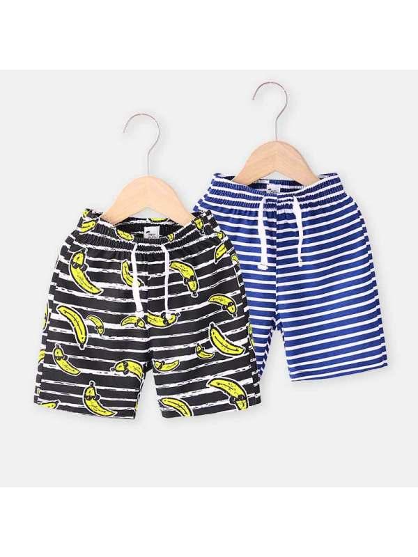 【18M-7Y】Boys Striped Trendy Shorts