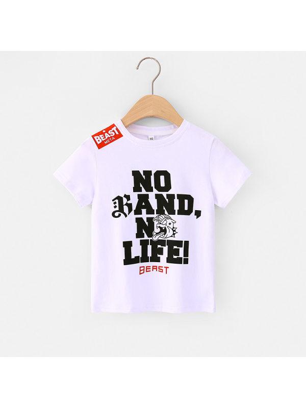 【3Y-11Y】Boys Letter Print Short Sleeve T-shirt