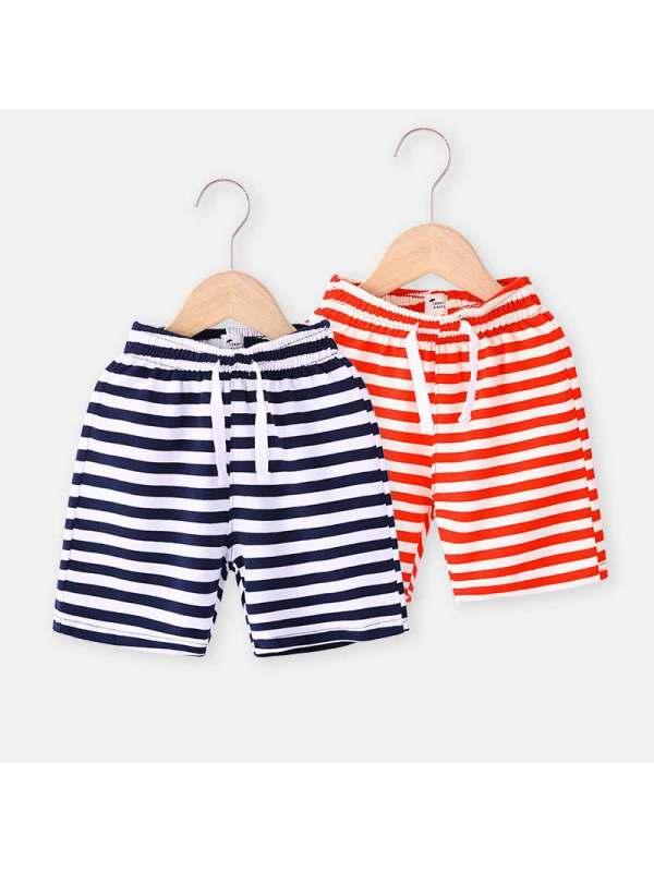 【18M-7Y】Boys Striped Knit Short