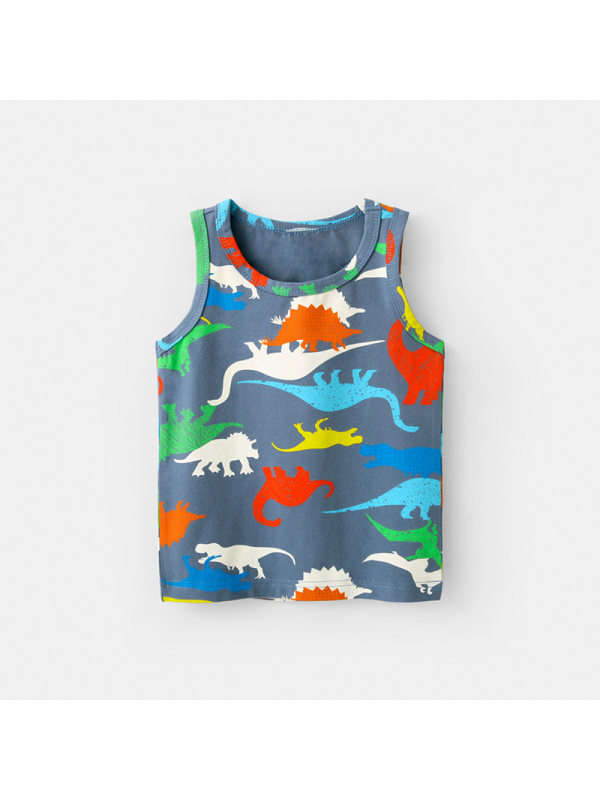 【18M-7Y】Boys Cartoon Print Sleeveless Vest