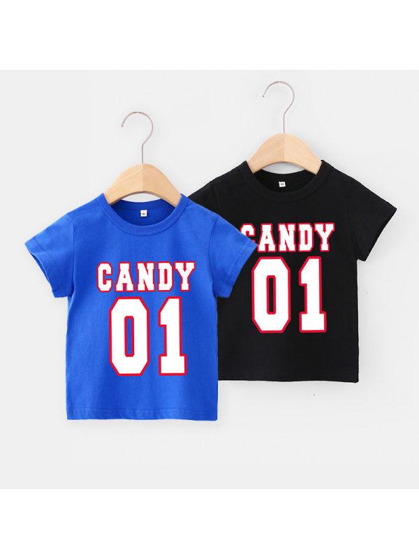 【12M-7Y】Boys Letter Print Short Sleeve T-shirt